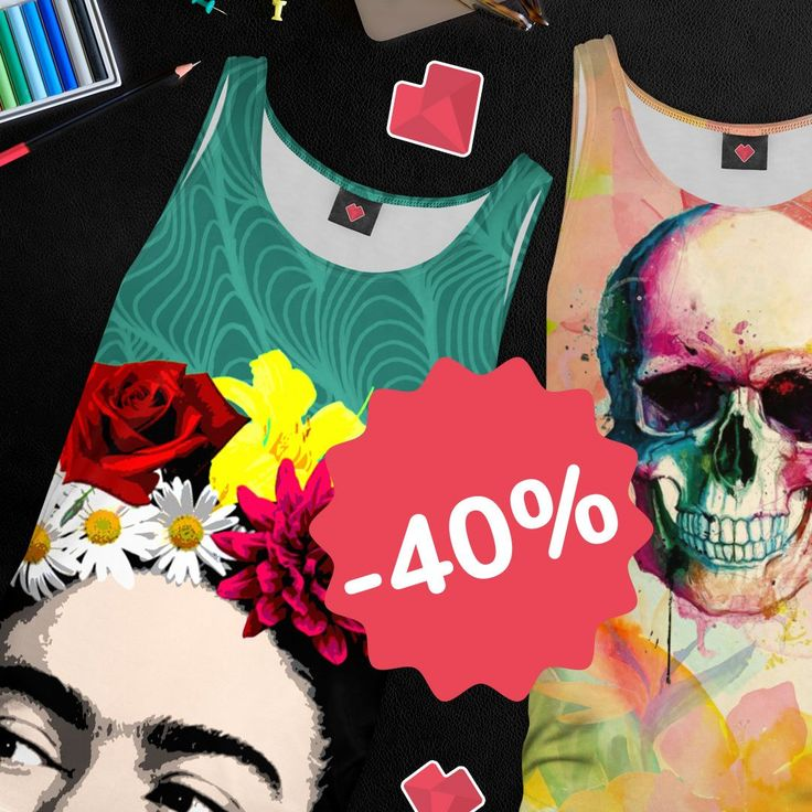 Time to feel some warm & hot vibes!😎☀️ This weekend get tank-top 40% OFF! Sounds cool? Check all the designs!😀   https://liveheroes.com/en/shop/women/top?special=featured