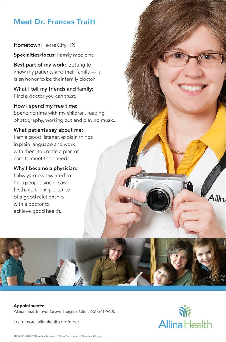 43 best Meet your Allina Health doctor images on Pinterest ...