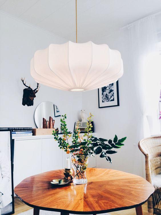 Lampverket unika lampor lampskärmar taklampa retro eco off white 60 cm