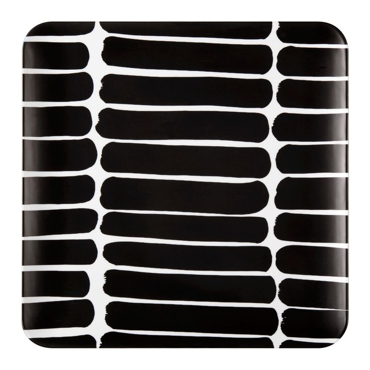 Square Serving Tray - Okariino Print - Black - Marimekko for Target