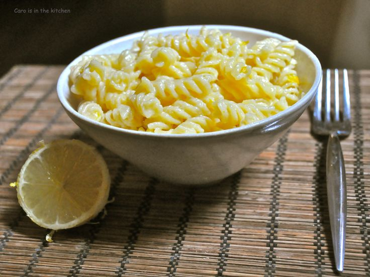Pâtes au citron - caroisinthekitchen