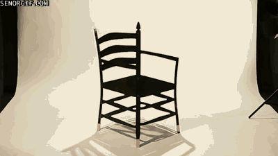Puede que no sepas como sentarte en esta increíble silla.