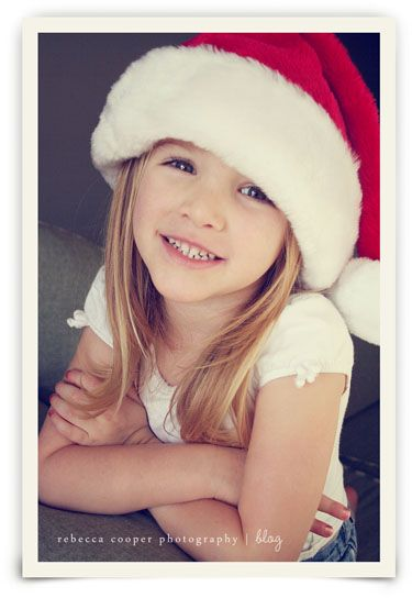cute idea of taking picture with Santa hat on each year to see how much they have grown.