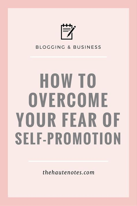how to overcome your fear of self