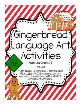 Gingerbread ELA Mini Unit w/ a Research Project!