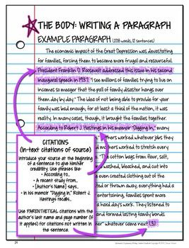 Parenthetical documentation for essays