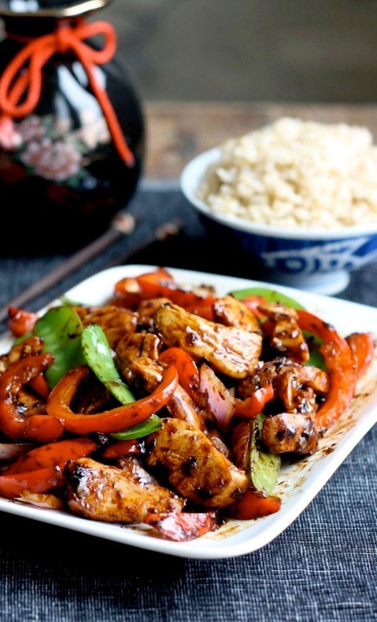 Stir-Fried Chinese Garlic Chicken | Kitchen Vista's