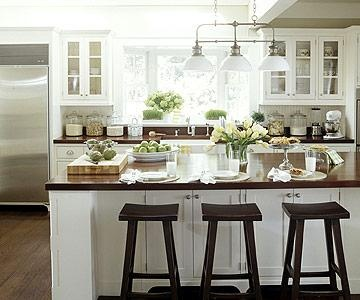 Our 35 kitchens offer inspirational ideas for updating your kitchen with colorful accents, fresh styles, and a hardworking layout.