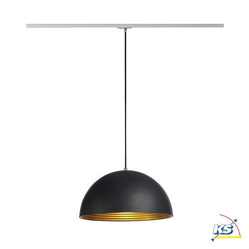 Pendelleuchte FORCHINI M E27 40W für 1-Phasen-Stromschiene, schwarz / gold
