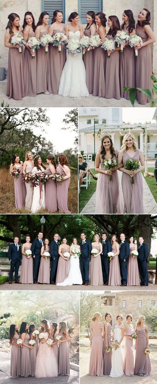 Top 6 Trending Colors For Bridesmaid Dresses Oh Best Day Ever Mauve Bridesmaid Dress Mauve Bridesmaid Winter Bridesmaid Dresses