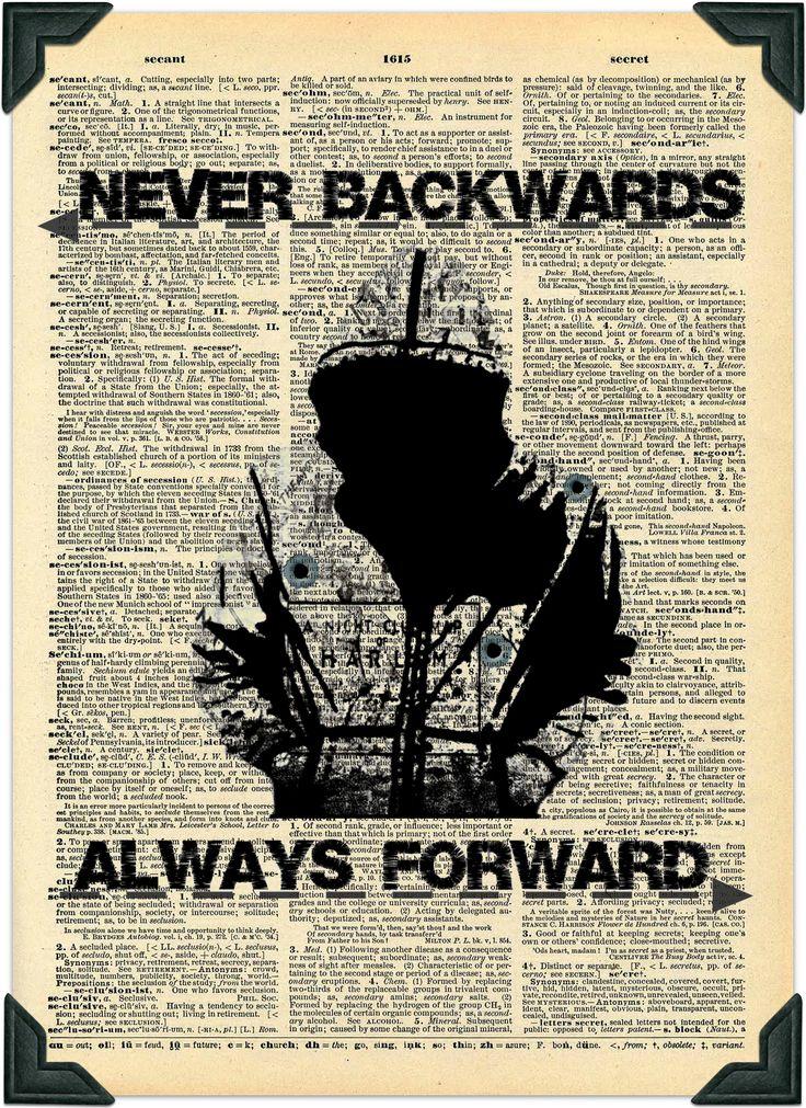 Always forward luke cage vintage dictionary art digital for Forward dictionary