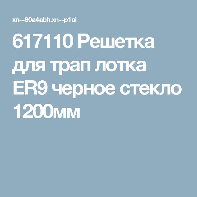 617110 Решетка для трап лотка ER9 черное стекло 1200мм