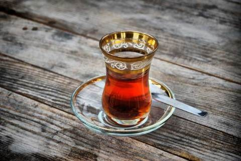 Turkish apple tea.  I love it. I have a huge bag at home. I can't wait to drink it all this summer.