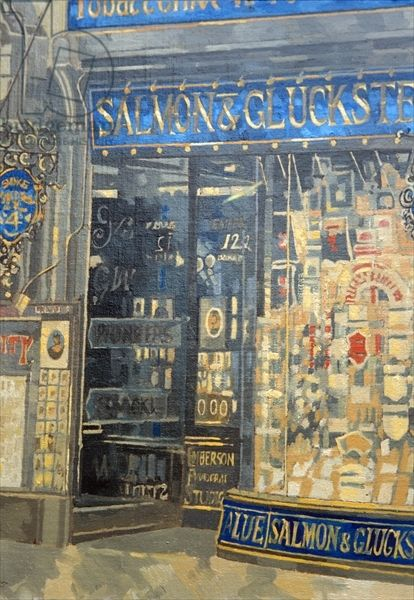 """""""Salmon and Gluckstein, Oxford Street"""" by Peter Miller (oil on canvas)"""
