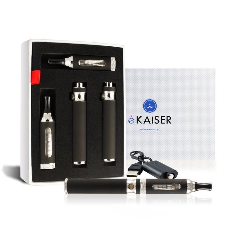 eKaiser eAir Electronic Cigarette E shisha Pen E Cigarette Starter Kit - Black Dual Kit - 2 X Batteries - USB Charger - Variable Voltage