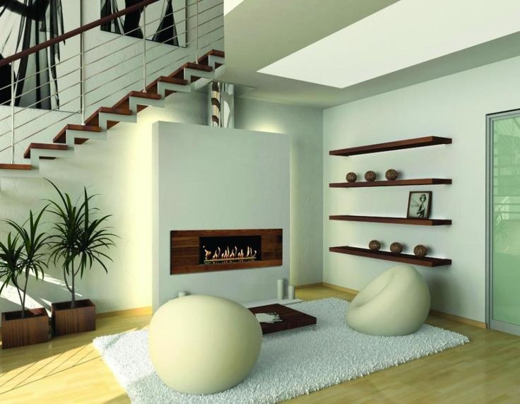 Elegant Fireplace Design For Confort Living Room Rectangular In Wooden Cover Led