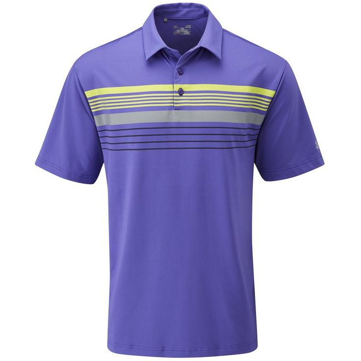 Equipped with heatgear technology this mens UA gimme chest stripe golf polo  shirt by Under Armour