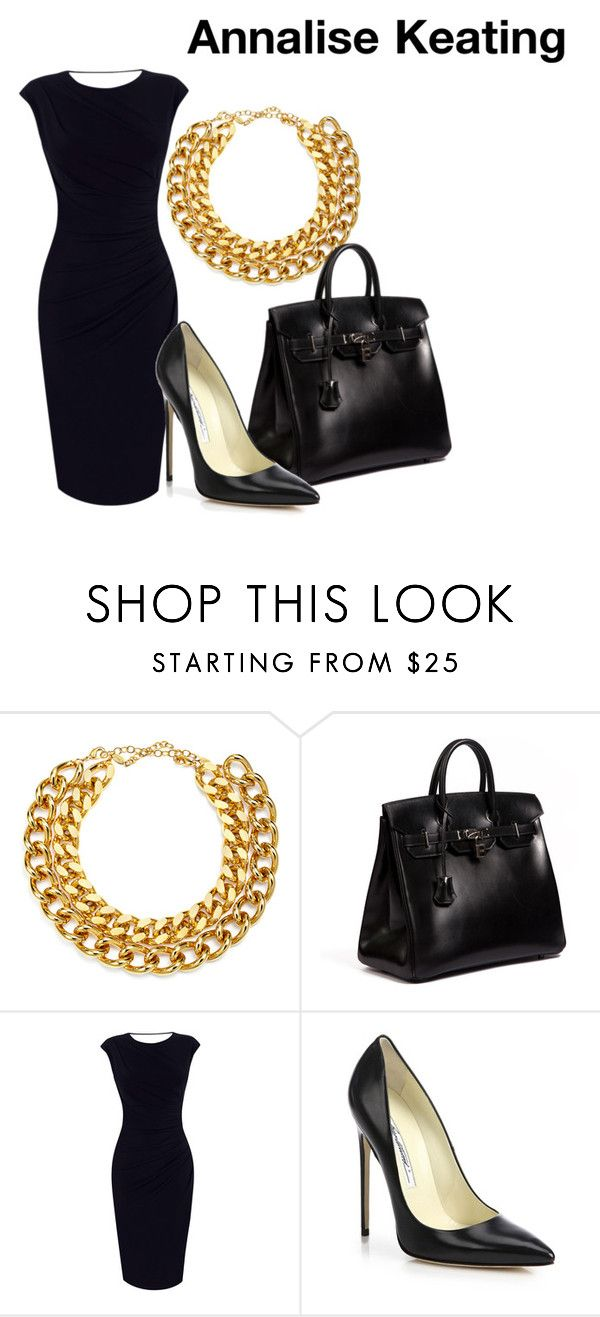 """""""Annalise Keating - How To Get Away With Murder"""" by hestiarocks on Polyvore featuring A.V. Max, Hermès, Oasis and Brian Atwood"""