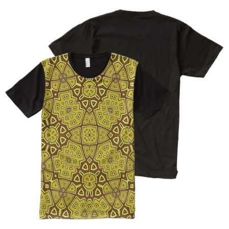 Abstract Pattern yellow All-Over-Print Shirt - click to get yours right now!