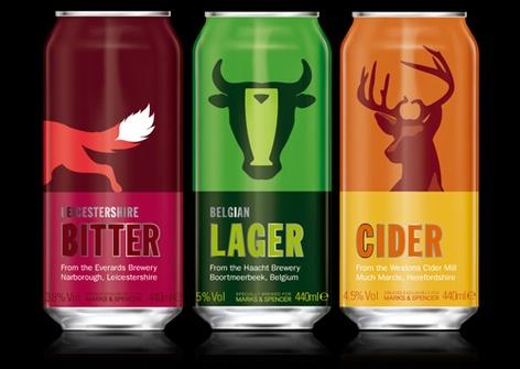 Marks & Spencer Beers. Simple and striking. #packaging