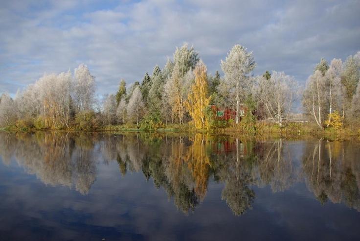 October frost in Rovaniemi, #Lapland.