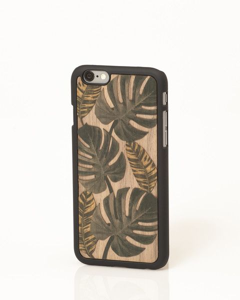 "Tropical ""Valuable Leisures"" wooden iPhone cover by Wood'd"