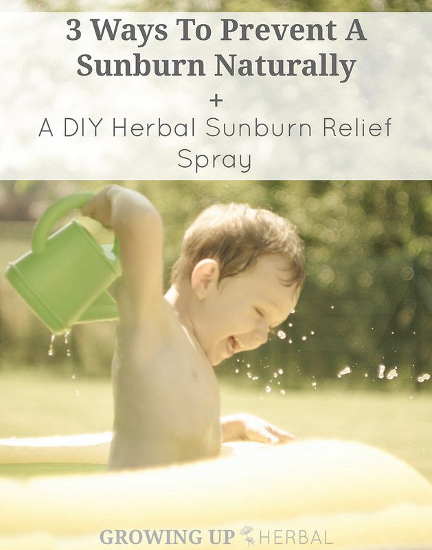 3 Ways To Prevent A Sunburn Naturally + A DIY Herbal Sunburn Relief Spray | GrowingUpHerbal.com