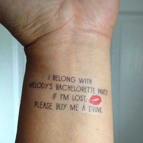 Bachelorette Tattoos!!! Ha! Such an awesome fun party idea!