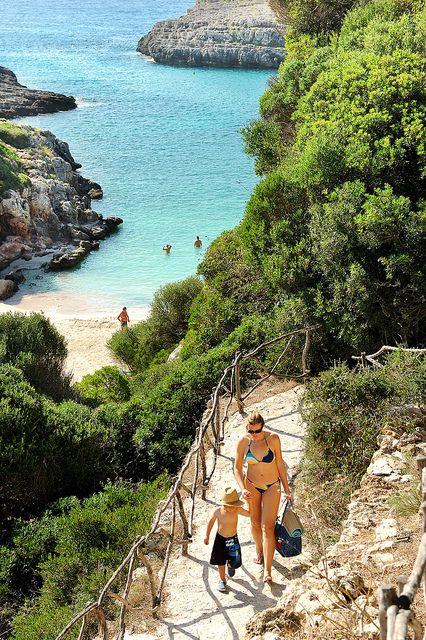 Cala de Binidali  Menorca  Spain