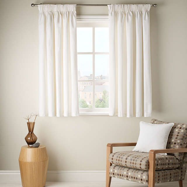 Buyjohn lewis cotton rib lined pencil pleat curtains for Bedroom inspiration john lewis