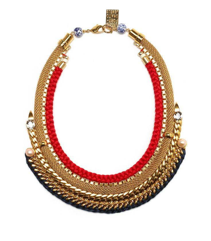 Lizzie Fortunato Fast Lane Rope Chain Collar Necklace