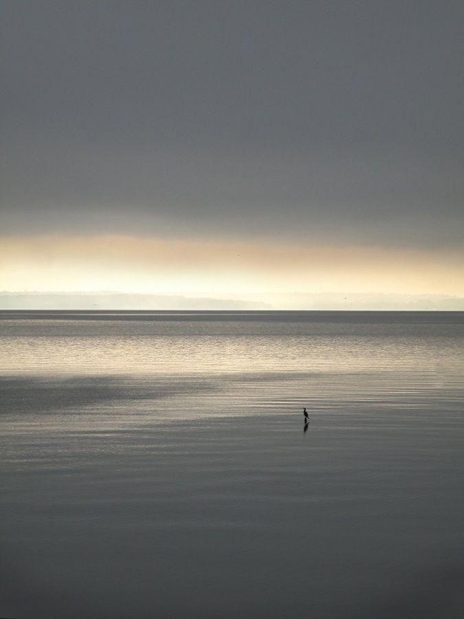 Horizonline Peacefulsea Graysky Reflections Water