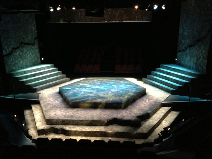 I like this set for the first scene when Antigone and Ismene talk about their brothers