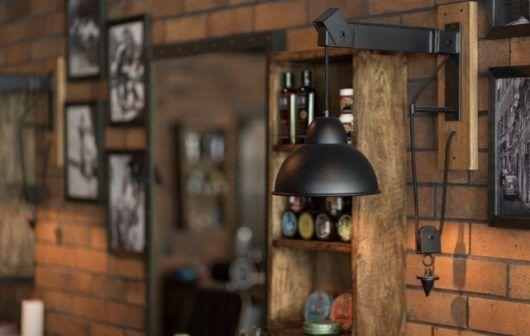 Barber Shop Interior, Barber Shop Decor, Wine Rack, Lord, House Design, Ceiling Lights, Black And White, Behance, Home Decor