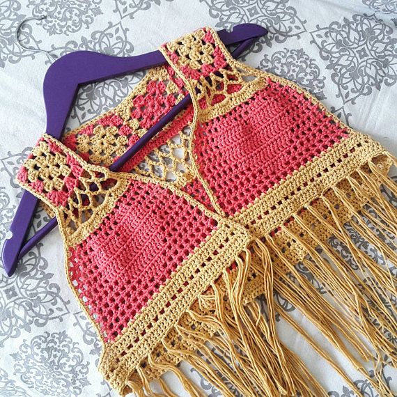 Check out this item in my Etsy shop https://www.etsy.com/uk/listing/515215052/festival-hippie-crochet-fringe-vest