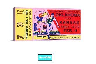 Kansas Jayhawks Father's Day gifts, KU Father's Day gifts, Kansas Jayhawks basketball gifts, Kansas Jayhawks man cave art, vintage KU Jayhawk art, vintage college basketball art, Row One Brand, Row One