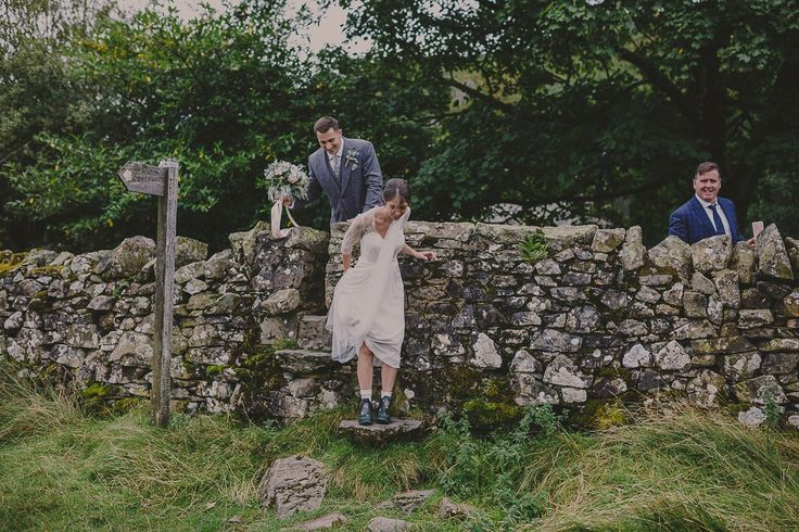 Bride and groom from a romantic and elegant gin inspired wedding in the Lake District. Photography by Lottie Elizabeth.