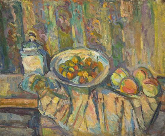 Caziel, (British/Polish, 1906-1988), Still Life with Fruit