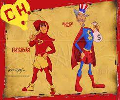 El Chapulin Colorado y Super Sam.