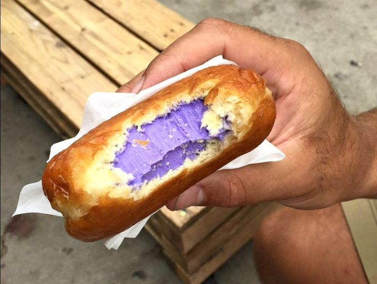 Ube Ice Cream Doughnut Sandwich from B Sweet Dessert Bar
