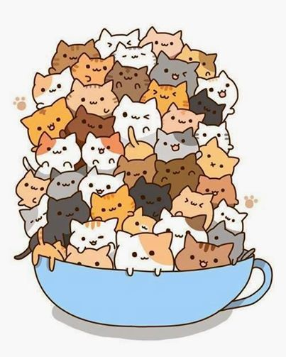 cup full of kitties