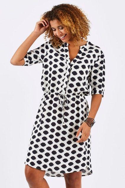 0c526bbc0cc Jump Spot Tie Waist Shirt Dress - Womens Knee Length Dresses - Birdsnest  Online Store