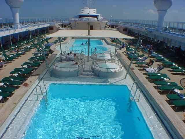 Norwegian Sky Cruise Ship   The Pool Area (Deck 11, midship)
