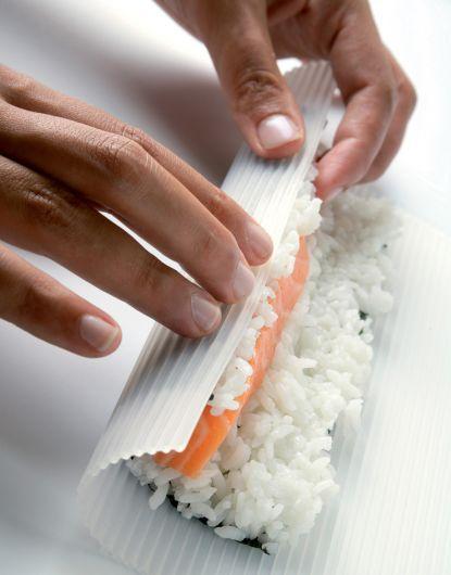 Silicone sushi mat (goodbye, Clingwrap)