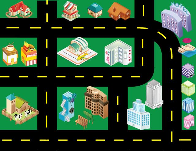 Printable Toy Car Road Map Between 3 Sistersbetween 3