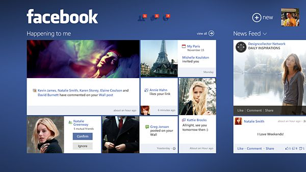 Well this layout of Win8 Facebook makes me want to upgrade my PC to Win8! Good apps do help to sell an OS.