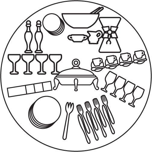 Сервировка шведского стола
