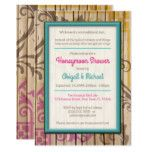 Tropical Tiki Wood Honeymoon Shower Invitations