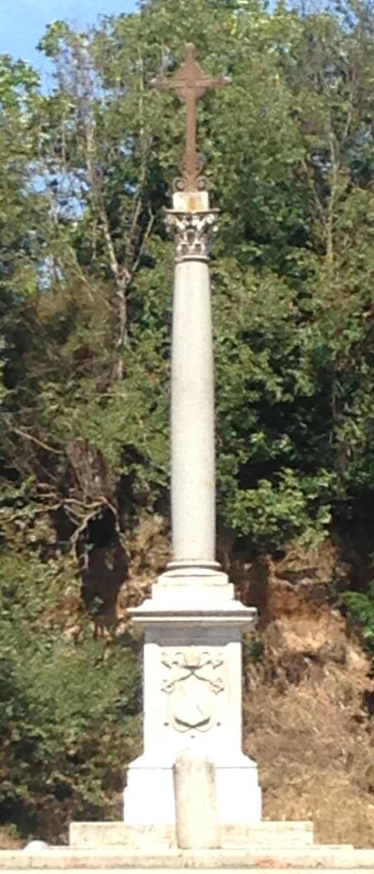 Column outside the Catacombs of St Sebastian, day 5.