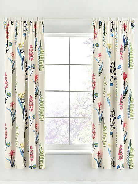 Sanderson Floral bazaar 66X72 curtains raspberry
